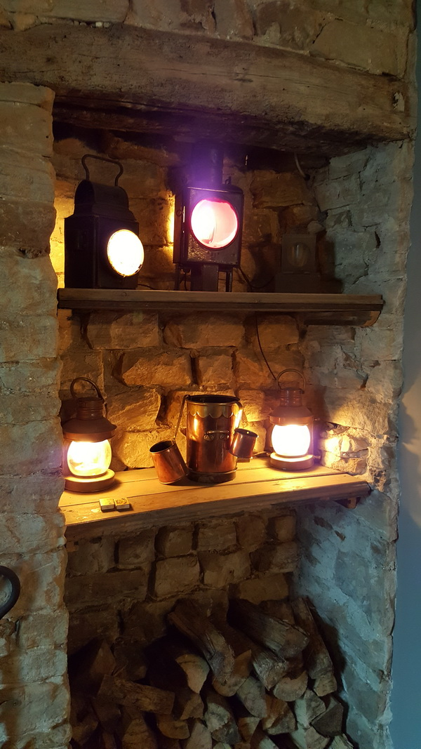 Cosy candles in the bar